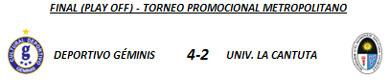 Final - Torneo Metropolitano 2012 - División Promocional