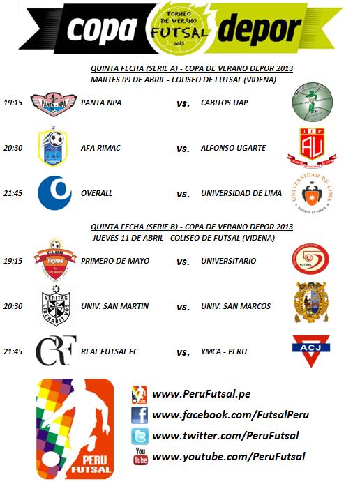 Programación - Fecha 5 (Copa Depor 2013)