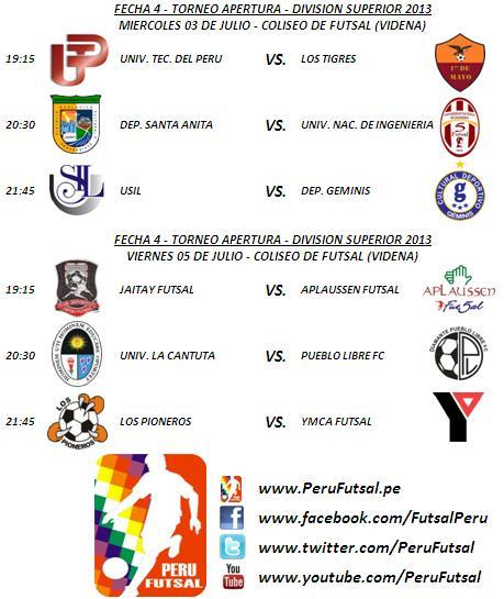 Programación - Fecha 8 (Torneo Apertura - División Superior 2013)