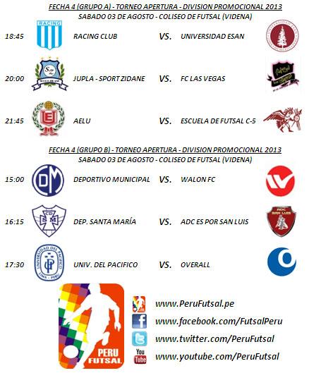 Programación - Fecha 4 (Torneo Apertura - División Promocional 2013)