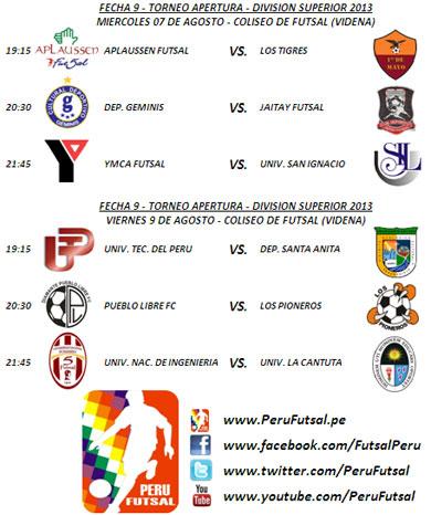 Programación - Fecha 9 (Torneo Apertura - Div. Superior 2013)