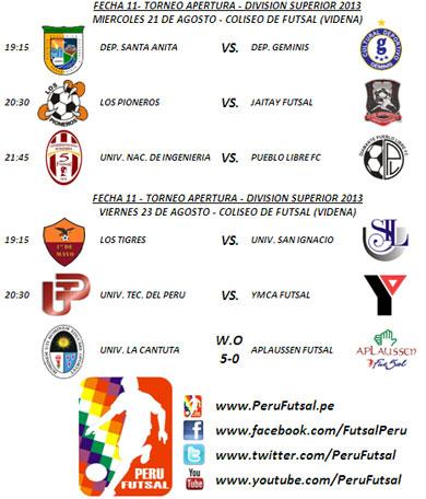 Programación - Fecha (Torneo Apertura - División Superior 2013)