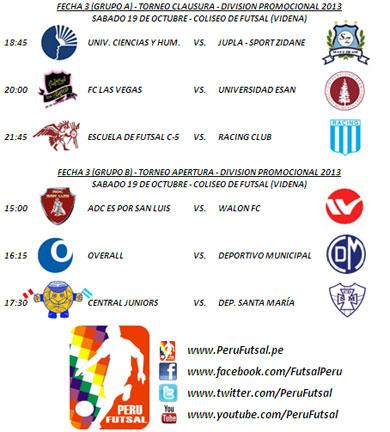 Programación - Fecha 3 (Torneo Clausura - División Promocional)