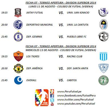 Programación - Fecha 7 - Torneo Apertura - División Superior 2014