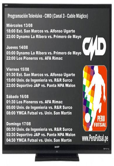Programación TV (CMD) - Fecha 2 - Clausura - División de Honor 2014