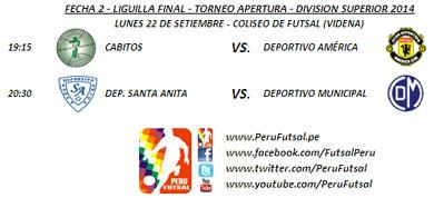 Programación - Fecha 1 y 2 - Liguilla Final - Apertura - Div. Superior 2014