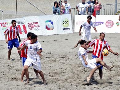 En un partido muy cerrado, Paraguay derrotó por 7-5 a Chile (Foto: Prensa JJBB - Huanchaco 2014)