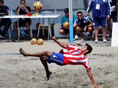 Paraguay se mantiene firme en la cima del Grupo A y ya esta clasificado a las semifinales (Foto: Prensa - JJBB Huanchaco 2014)