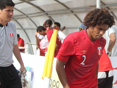 El cuadro local, Perú, cayó ante el cuadro guaraní y no logra acceder a las semifinales (Foto: Diario La Industria de Trujillo)