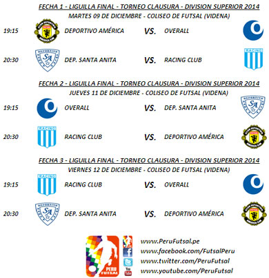 Programación - Liguilla Final - Clausura - División Superior 2014