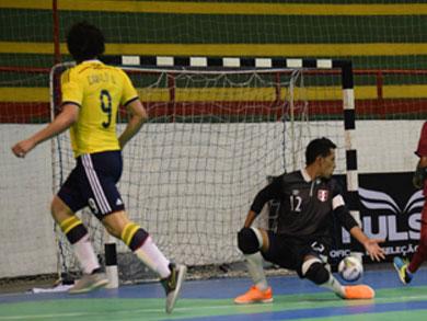 Perú cayó por primera vez en el Sudamericano Sub20, de manera ajustada ante Colombia (Foto: Luis Dominguez / CBFS)