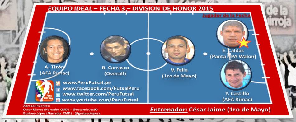 Equipo Ideal - Fecha 3 - División de Honor 2015