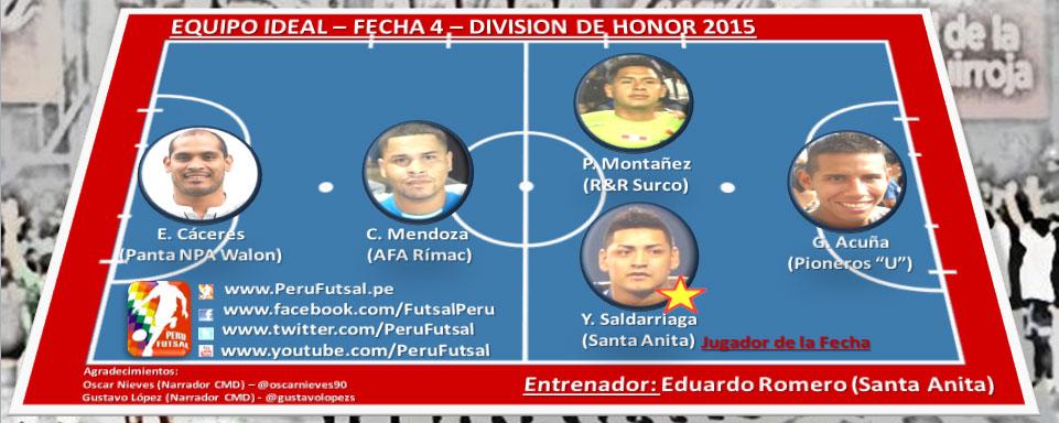 Equipo Ideal - Fecha 4 - División de Honor 2015