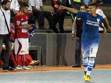 El cuadro azul de Santa Anita doblegó a Los Pioneros y encabeza el torneo en la fecha inaugural (Foto: PeruFutsal.pe)