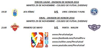 Programación - Tercer Lugar / Final - División de Honor 2016