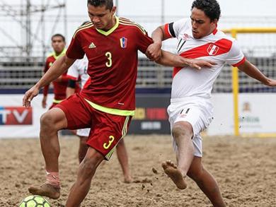 Venezuela no tuvo reparos y se quedó con el 5to lugar tras golear a Perú (Foto: JJBB Iquique 2016)
